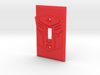 Autobot Faction Symbol Light Switch Plate in Red Strong & Flexible Polished