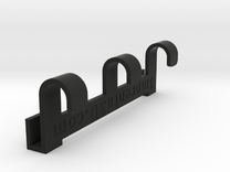 Gym-locker hanger in Black Strong & Flexible