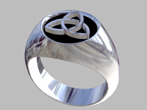 Trinity ring size 7 in Raw Silver