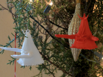 Beulah Ornament in White Strong & Flexible