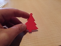 christmas tree ornament in Red Strong & Flexible Polished