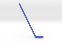 Hockey Stick: Bent (Right-handed) in Blue Strong & Flexible Polished