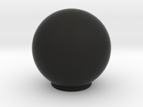 Railbox Knob Round in Black Strong & Flexible