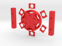 Handfuge - Hand-powered Centrifuge in Red Strong & Flexible Polished