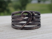 Bass Clef Ring in Matte Black Steel