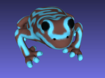 Grey Poison Dart Frog in Full Color Sandstone