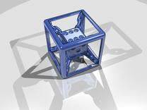 Chained die 6-sided in Stainless Steel