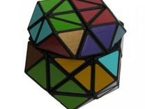 3x3x3 Rainbow Cube in White Strong & Flexible