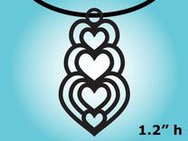 Heart Pendent Necklace Charm in Raw Silver