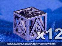 Deathly Hallows 12d6 Set in Stainless Steel