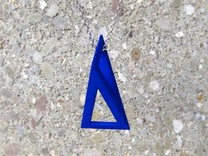 T-Prism Pendant in Blue Strong & Flexible Polished