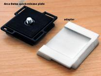 Arca Swiss to Manfrotto tripod plate adapter in White Strong & Flexible