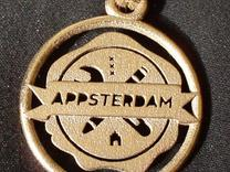Appsterdam Pendant 1g for metal in Stainless Steel