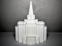 Gilbert, Arizona LDS Temple in White Strong & Flexible Polished