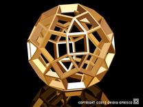 Polyhedral Sculpture #28B in White Strong & Flexible