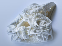 Fractal Cranium - Small version in White Strong & Flexible