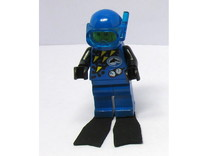 Minifig Apnoe Fins without blade angle in Black Strong & Flexible