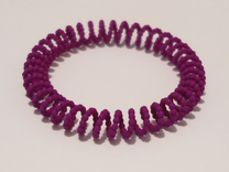 Bangle Bracelet Spiral Beads in Purple Strong & Flexible Polished