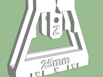 Track Gauge - Zx2 - 25mm in White Strong & Flexible Polished