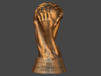 FIFA World Cup Brasil 2014 Logo Cup Design 7cm 2.7 in Yellow Strong & Flexible Polished