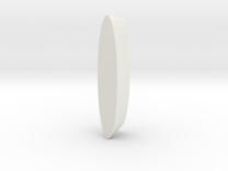 Wheel Pod for RC aircraft 40mmx15mm foam tire.  in White Strong & Flexible