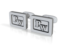 Custom cufflink nr.17 in Metallic Plastic