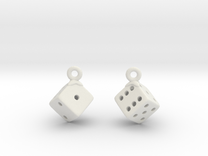 D6 Earrings in White Strong & Flexible