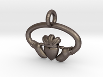 Claddaugh Pendant in Stainless Steel