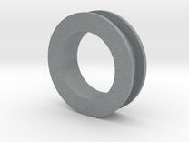 Ear Plug (19mm, single) in Polished Metallic Plastic