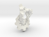 Knotted Cog (large) in White Strong & Flexible