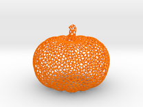 Voronoi Pumpkin #2 in Orange Strong & Flexible Polished