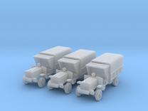 1/200 WW1 light trucks (3) in Frosted Ultra Detail