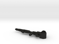Gun model, fits Transformers Optimus Prime Figure in Black Acrylic