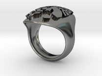 face extruded size 8 in Premium Silver