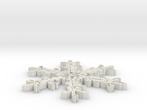 snowflake-v3-1.stl in White Strong & Flexible