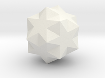 Small Ditrigonal Icosidodecahedron in White Strong & Flexible