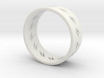 lightning ring in White Strong & Flexible