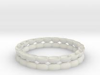 Bracelet 1 stl via netfabb in White Strong & Flexible
