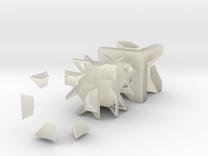 Union Jack Cube in Transparent Acrylic