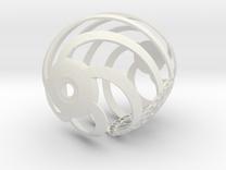 Easter Egg Spiral 5 in White Strong & Flexible
