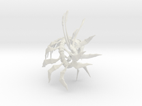 """Leviathan Centipede - 4.5"""" in White Strong & Flexible"""