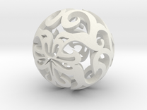 Curlicue ball 1 small in White Strong & Flexible