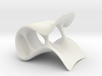 Streach Chair-larger in White Strong & Flexible
