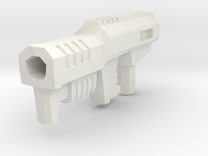 Gauss Rifle 5mm Peg in White Strong & Flexible
