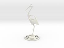 Fishing stork in White Strong & Flexible
