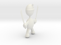 Killer pendant charm in White Strong & Flexible