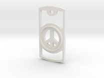 Peace Symbol Necklace in White Strong & Flexible