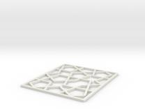 Girih Tile2 in White Strong & Flexible