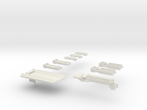 Fleet Scale Series 1: The entire Terran fleet in White Strong & Flexible