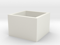 SquareRing 18mmx15mm in White Strong & Flexible
